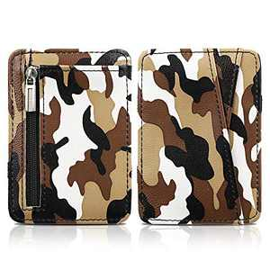 CAYFY Slim Minimalist wallet for Men - Front Pocket Magic Wallet & Coin Wallet & Camo Money Wallet With RFID Blocking