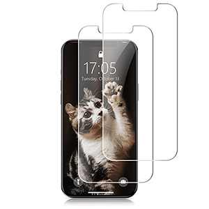 """Linklike Ultra-Durable Screen Protector Compatible for iPhone 12 Pro/iPhone 12 6.1""""[4X Shatter Protection][Super Easy Installation][Bubble Free] 9H Shockproof Tempered Glass Film -2 Pack"""