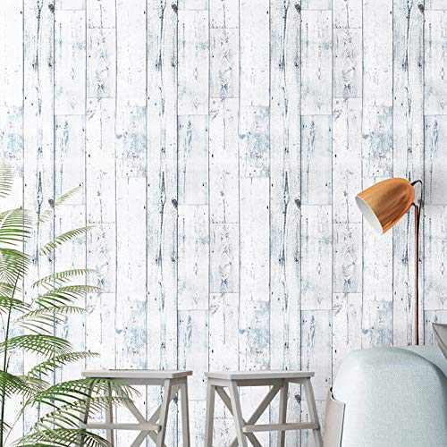 "Kononia 96072-6 Peel and Stick Wallpaper, Wood Plank Wallpaper, Vinyl Self Adhesive Decoration 17.7""x 19.7ft(6meters)"
