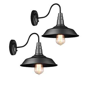 ASHUAQI Industrial Wall Light, Gooseneck Vintage Wall Sconce, Retro Wall Lamp with E27 Socket, Indoor Fixtures for Living Room, Restaurant, Bathroom, Bar, Porch, Hotel, Coffee (2 Pack)
