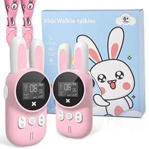 HWeggo Walkie Talkies for Kids, Gifts for 6-12 Year Old Boys Girls, 22 Channels 2 Way Radio 3 Km Long Range, Kids Toys with Backlit LCD Flashlight for Indoor Play, Camping, Outside Adventure