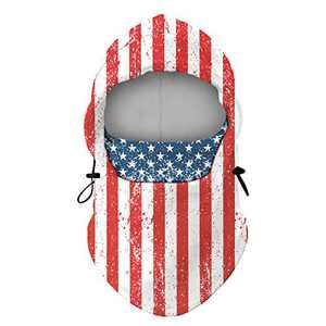 Balaclava Fleece Hood Ski Mask Windproof- Neck & Head Warmer for Winter Cold Weather - Adjustable Strawstring
