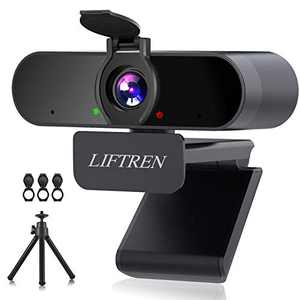 LIFTREN Webcam with Microphone for PC, USB Streaming Webcam, Full HD Webcam 1080P for Livestream/Video Conference/Video Calling/Gaming, Laptop/Desktop, Mac/Windows/Linux