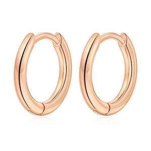 Tiny Hoop Earrings for Women Girls, S925 Sterling Silver Post Tragus Sleeper Earring Hypoallergenic Hoop Earrings for Women Girls 10MM Rose Gold Jewelry