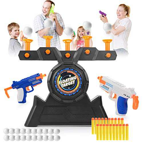 VISATOR Floating Ball Shooting Games for Kids Nerf Guns Toys,USB Powered Shooting Targets Practice for Boys with 2 Foam Dart Guns, 20 Foam Balls & 20 Darts
