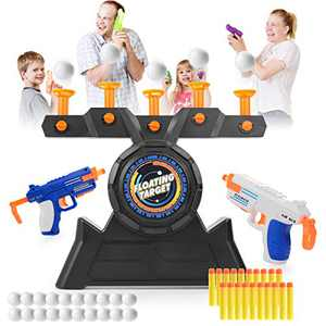 VISATOR Floating Ball Shooting Games for Kids Nerf Guns,USB Powered Shooting Targets Practice for Boys with 2 Foam Dart Guns, 20 Foam Balls & 20 Darts,Boys Toys for 5 6 7 8 9 10 11 12 Year Old Boys