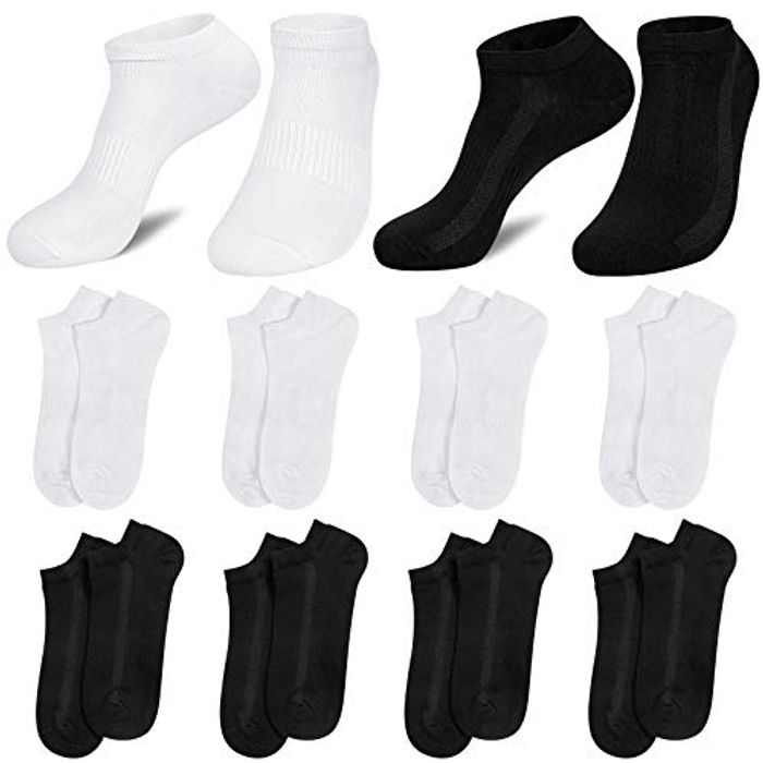 8 Pairs Mens Ankle Socks Trainer Sneaker Socks for Men Low Cut Cotton Breathable Mens Socks for Running Walking Outdoor Sports UK6-9/9-12