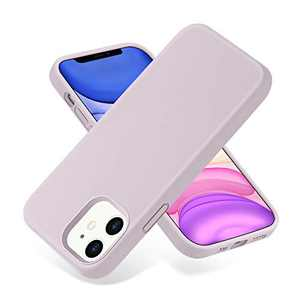 SNBLK Compatible with iPhone 12 Case/Compatible with iPhone 12 Pro Case Liquid Silicone 6.1 Inch (2020),Soft Thick Protective Rubber Cell Phone Basic Cases Covers for Women Men Girls Boys, Lavender