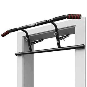ONETWOFIT Pull Up Bar for Doorway Strength Training Pull Up Bars Multi Home Gym Chin up bar Adjustable Portable Indoor Thick,Heavy Duty Hook Bar, Padded Handles OT216
