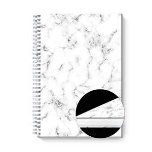 "Graceful Marble - A5 Clothed Spiral Notebook - Ruled Notebook/Journal - Lined Journal - 5.83"" X 8.32"" Hardcover Books - College Ruled Spiral Notebook/Journal - Coated Paper Cover Notebook"