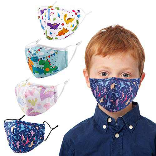 Kids Face Covering Washable Cotton Fabric Cloth Face Covering with Adjustable Elastic Ear Loops Face Reusable (MIAN-15)