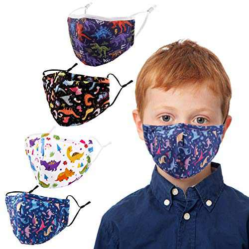 Kids Face Covering Washable Cotton Fabric Cloth Face Covering with Adjustable Elastic Ear Loops Face Reusable (MIAN-14)