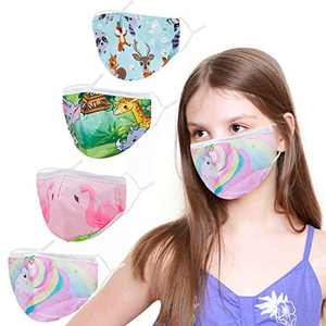 Kids Face Covering Washable Cotton Fabric Cloth Face Covering with Adjustable Elastic Ear Loops Face Reusable (MIAN-17)