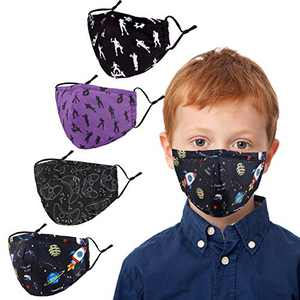 Kids Face Covering Washable Cotton Fabric Cloth Face Covering with Adjustable Elastic Ear Loops Face Reusable (MIAN-19)