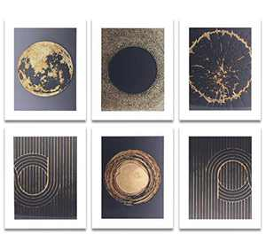 Wall Art Paintings 8×10 Inches 6 Pcs Wall Decor for Office Living Room,Unframed Home Decor Wall Paintings for Room Decorations with Inspirational Wall Art (Planet)