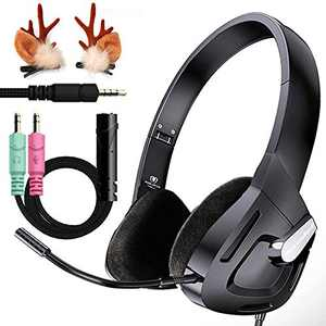 Wired Pro Gaming Headset, PS4 Gaming Headphones for Boys/Kids Gifts, Kids Headphones with Detachable Mic, Foldable On-Ear Children Headphones for Xbox Telephone Chat, PC, Study, Tablet …