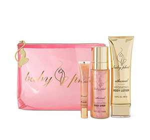 Baby Phat Beauty, Aoki's Ethereal Shimmer Dreams 4-Piece Set, Includes Illuminating Body Spray, Hydrating Body Lotion, Plumping Lip Gloss & Travel-Friendly Pouch