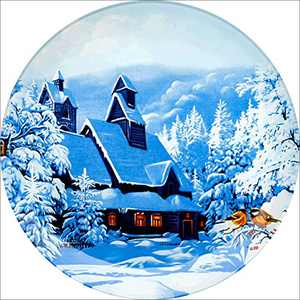 ART DRILL Christmas Paint by Numbers Kits, Full Drill Snow Scene Diamond Art Picture Embroidery Rhinestone Cross Stitch Arts Craft Supply for Home Wall Decor 11.8×11.8Inch