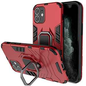 BIBERCAS Compatible with iPhone 12 Mini Case 5.4,iPhone 12 Mini Magnetic Case with Ring Holder,Heavy Duty Military Grade Full Body Protection Cover for iPhone 12 Mini 5.4 inch 2020-Red