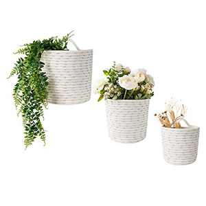 UBBCARE Wall-Hanging Basket Small Woven Storage Basket for Organizing Cotton Rope Decorative Plant Hanger Set of 3