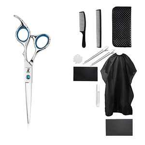 PANDINUS IMPERATOR 11pcs Stainless Steel Hair Cutting Scissors Set 6.9 Inch Professional Salon Barber Haircut Scissors Family Use for Man Woman Adults