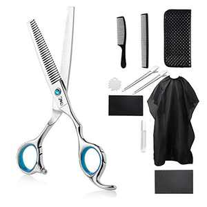 PANDINUS IMPERATOR 11pcs Professional Barber Hair Thinning/Texturizing Shears/Scissors Set Premium Shears for Hair Cutting for Women and Men- 6.9 Inches (Thinning Scissor)