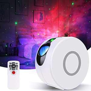 Galaxy Projector, GooDGo Dynamic Christmas Star Light Projector for Bedroom, Laser LED Nebula Cloud Starry Sky Night Light with Remote Control for Kids Adults Party