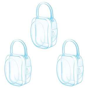 LANEYLI Pacifier Case Pacifier Holder Binky Holder Case Pacifier Box for Diaper Bag Home Travel Outdoor Activities 3 Pack Blue