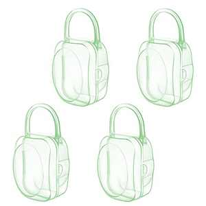 LANEYLI Pacifier Case Pacifier Holder Binky Holder Case Pacifier Box for Diaper Bag Home Travel Outdoor Activities 4 Pack Green