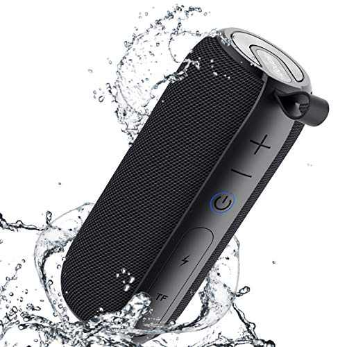 SANAG Portable Bluetooth Speaker, 360 HD Surround Loud Sound and Deep Bass, 25W Wireless Stereo Dual Pairing, IPX7 Waterproof, Bluetooth 5.0, Outdoor, Camping, 24-Hour Playtime Speaker(Black)