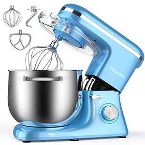HOWORK Stand Mixer, 8.45 QT Bowl 660W Food Mixer, Multi Functional Kitchen Electric Mixer With Dough Hook, Whisk, Beater, Egg White Separator(8.45 QT, Blue)