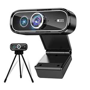 Webcam with Microphone, 1080P HD Dual Lens Streaming Web Camera for Computer Desktop Laptop, USB PC Camera 120-degree Wide Angle with Mic Tripod for Video Conferencing, Teaching, Recording and Gaming
