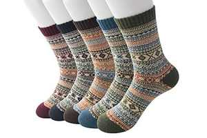 EasySMX 5-10 Pairs Women wool cotton Socks of Spring Waist Warm Cotton Socks Warm Women's Socks Wool Ladies Socks