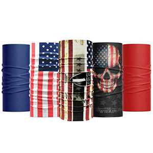 Wild Wrap! Multipurpose Neck Gaiter, Face Mask for Men and Woman (American Spirit)