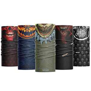 Wild Wrap! Multipurpose Neck Gaiter, Face Mask for Men and Woman (Spooky Wraps)