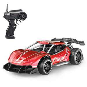 Vbepos Remote Control Car Toys for Boys and Girls, 2.4Ghz RC Cars for Kids & Adults, Red