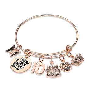 10th Birthday Gifts for Girls, Sweet 10 Gifts Turning 10 Year Old Girl Gift for Birthday Bracelet Bday Present Jewelry, Inspirational Happy Birthday Gifts for Girls Age 10 Daughter Granddaughter Kids