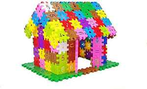 DEJUN Interlock Blocks Toys, Kids Building Blocks Set, Educational Toys, Construction Play Board Building Blocks,Best Gift for Kids,Educational Conventional Toys Gift for Boys Girls (120 PCS)