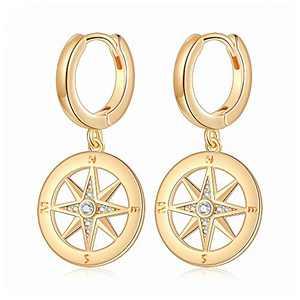 Star Hoop Earrings for Women Girls, S925 Sterling Silver Post Minimalist Hoop Sleeper Earring Hypoallergenic Disc Huggie Star Hoop Earrings for Women Girls Small Jewelry