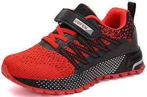 UBFEN Kids Running Shoes Walking Sports Athletic Tennis Sneakers for Boys Girls Red