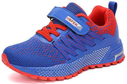 UBFEN Kids Running Shoes Walking Sports Athletic Tennis Sneakers for Boys Girls Blue Red