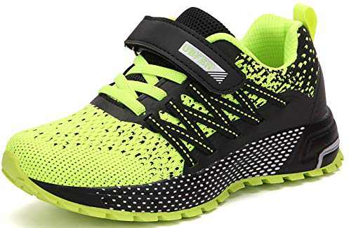 UBFEN Kids Running Shoes Walking Sports Athletic Tennis Sneakers for Boys Girls Green