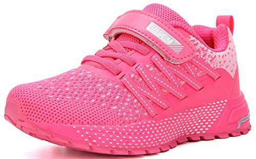 UBFEN Kids Running Shoes Walking Sports Athletic Tennis Sneakers for Boys Girls Pink