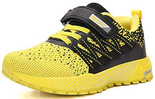 UBFEN Kids Running Shoes Walking Sports Athletic Tennis Sneakers for Boys Girls Yellow