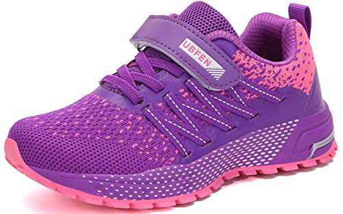 UBFEN Kids Running Shoes Walking Sports Athletic Tennis Sneakers for Boys Girls Purple