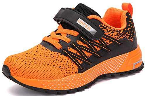 UBFEN Kids Running Shoes Walking Sports Athletic Tennis Sneakers for Boys Girls Orange
