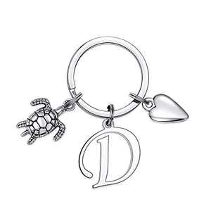 Turtle Charm Keychain for Women, Classic Turtle Keychains for Women Bag Accessories(D)