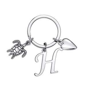 Turtle Charm Keychain for Women, Classic Turtle Keychain Purse Accessorie for Women(H)