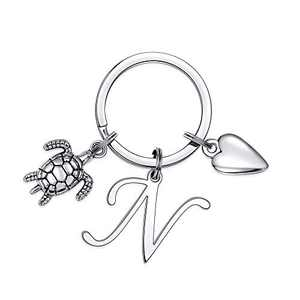 Turtle Charm Keychains for Women Gifts, Sea Turtle Keychains for Women Accessories(N)