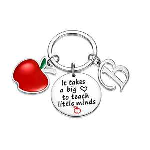 Teacher Gifts for Women, Teacher Keychain Gift from Students for Christmas Day(B)